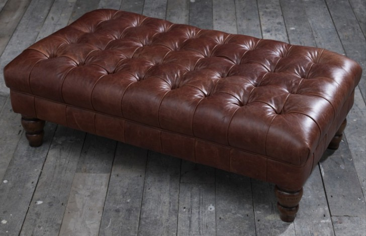 vintage leather footstool vintage brown leather footstool stools 3235