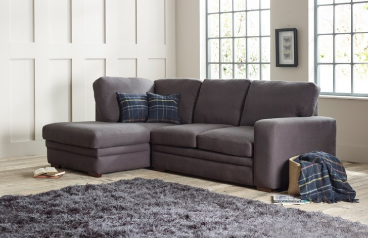 Abbey fabric corner chaise left hand facing