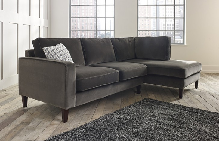 Drake Right Hand Facing Fabric Chaise Sofa