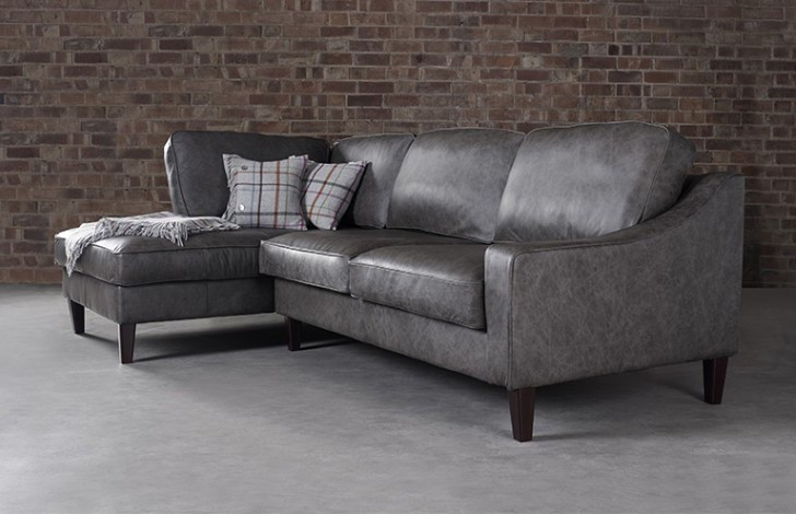 Hilary Left Hand Facing Leather Sofa
