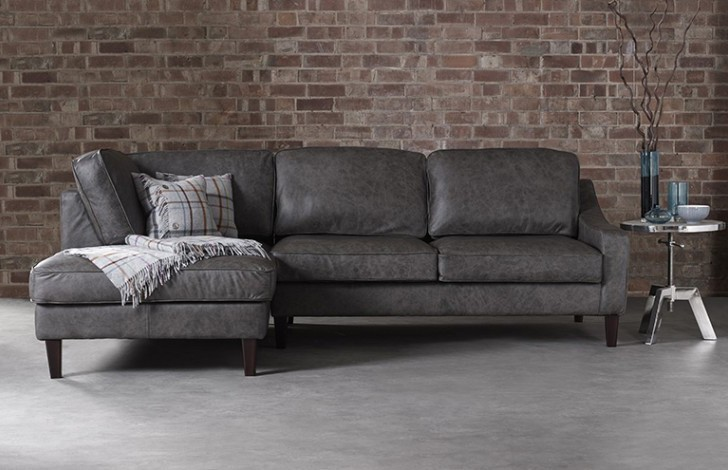 Hilary Left Hand Facing Leather Sofa
