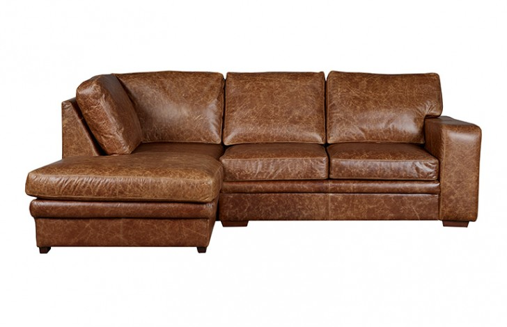 Abbey Leather Corner Chaise, left hand facing