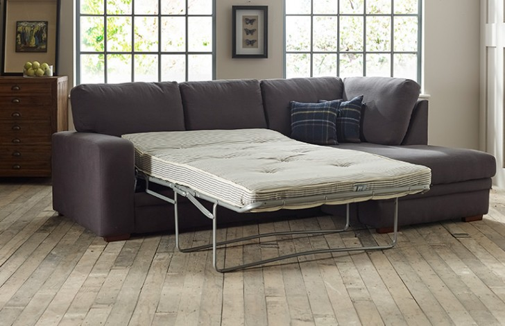 Abbey Fabric Chaise Sofa Bed Right Hand Facing