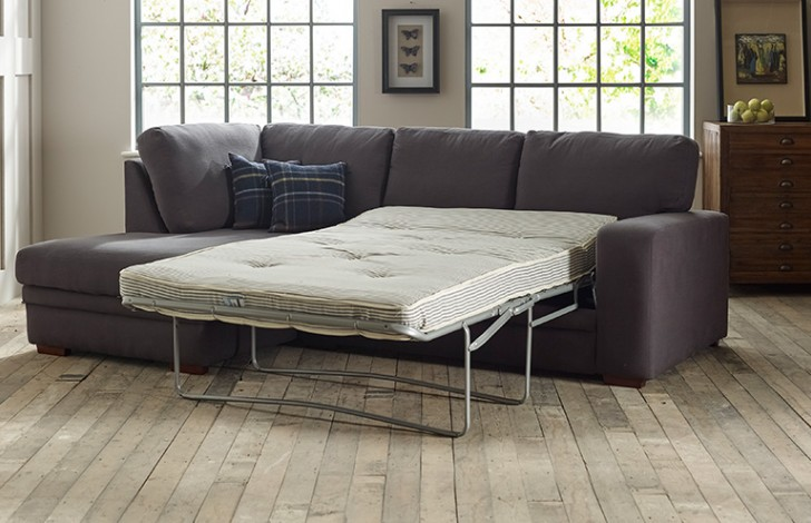 Abbey Fabric Chaise Sofa Bed Left Hand Facing