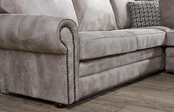 Portland Chaise Sofa 4 Seater Leather Sofas