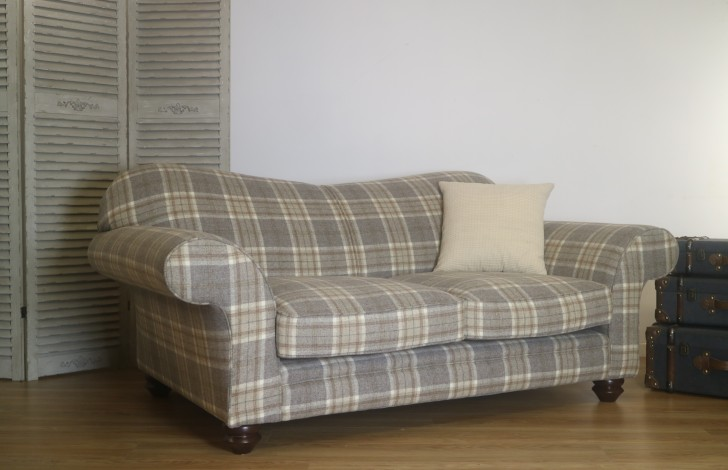 St Charles Curved Back Fabric Sofa