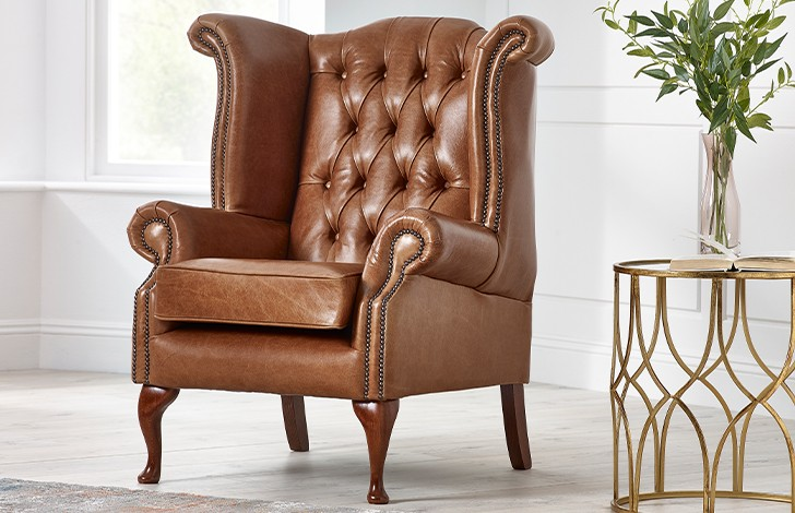 Scroll Wing Chair