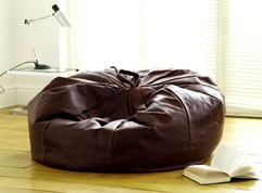 Macy Leather Beanbag