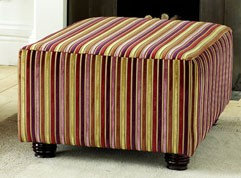 Macy Large Fabric Footstool