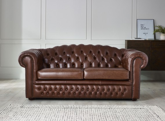 Leather Chesterfield Sofas: Made from Real, Top-Grain & 50+ Colours