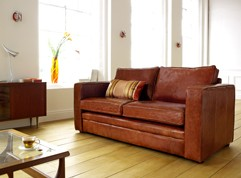 Trafalgar Compact Leather Sofa