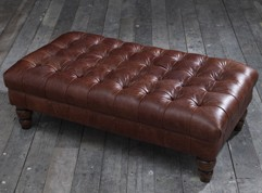 Crompton Large Buttoned Footstool