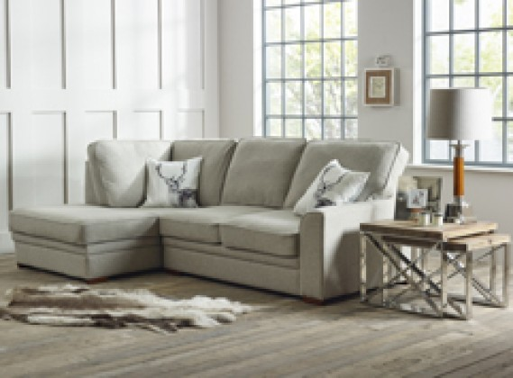 Liberty contemporary chaise sofa left hand facing