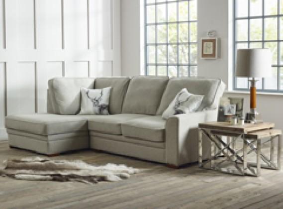 Liberty contemporary chaise sofa left hand facing