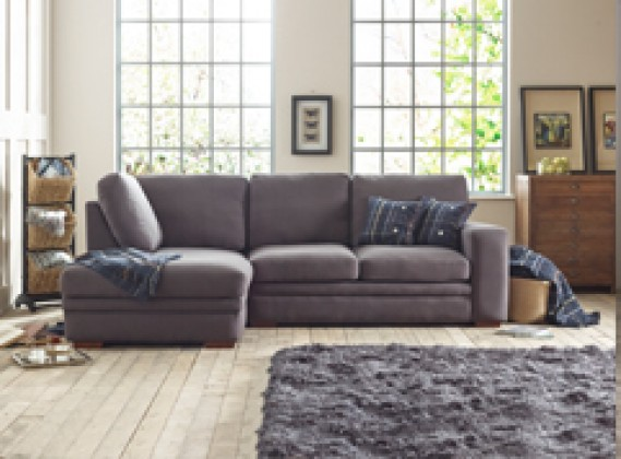 Abbey fabric corner chaise left hand facing : fabric chaise sofa - Sectionals, Sofas & Couches
