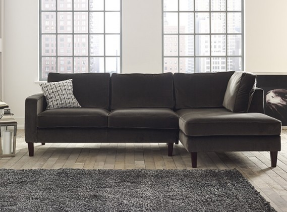 Drake Right Hand Facing Fabric Chaise Sofa : fabric chaise sofa - Sectionals, Sofas & Couches