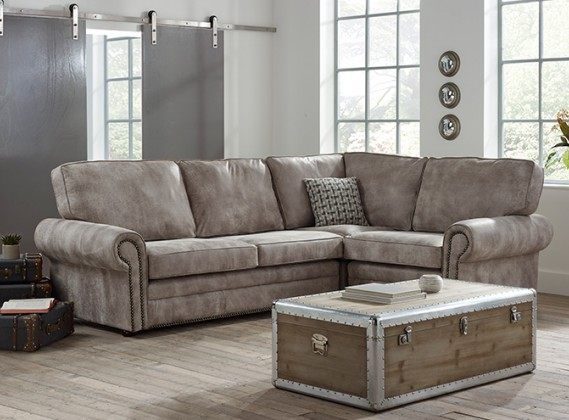 Portland Contemporary Corner Sofa Right Hand Facing