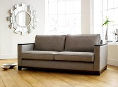 Mayfair Fabric Wood Trim Sofa Bed