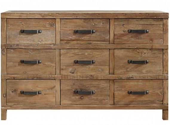 Dayton Elm 9 Drawer Chest