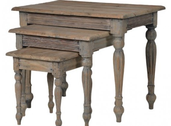 Colonial Reclaimed Pine Nest Of 3 Tables