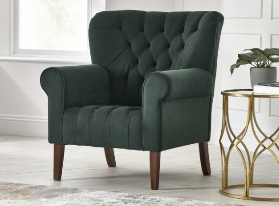 Oliver Fabric Spoon Back Chair