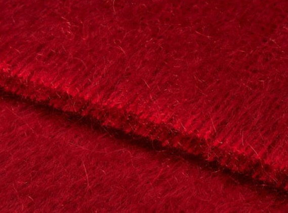 Mohair Throw Lacquer Red