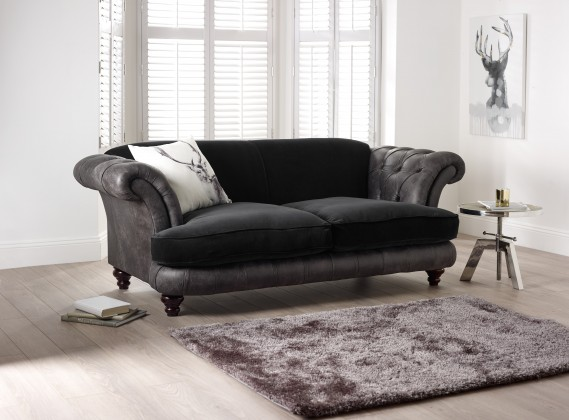 St Elizabeth Leather Fabric Sofa