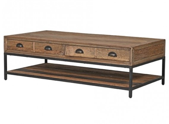 Rustic Pine 2 Drawer Coffee Table