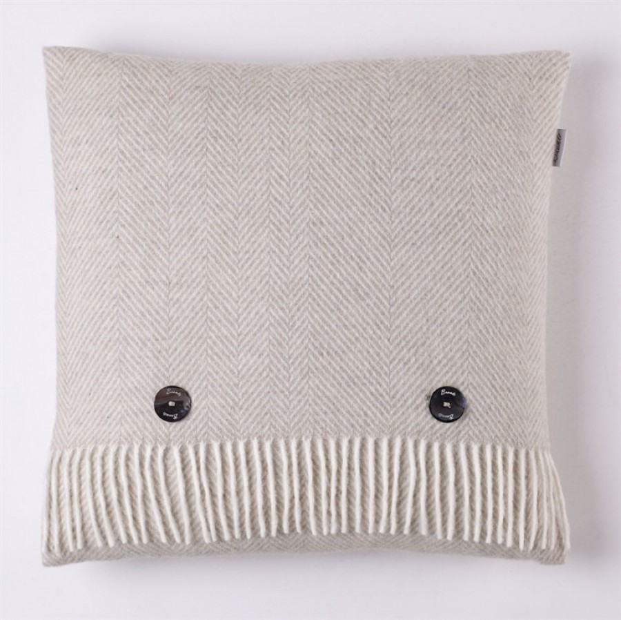 Herringbone Cushion Beige