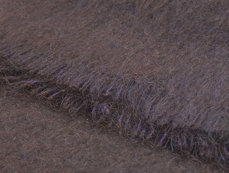 Mohair Throw Chocolate