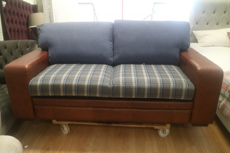 Abbey Leather Sofa Bed - 3 Seater Sofa Bed - Leather Fabric Mix