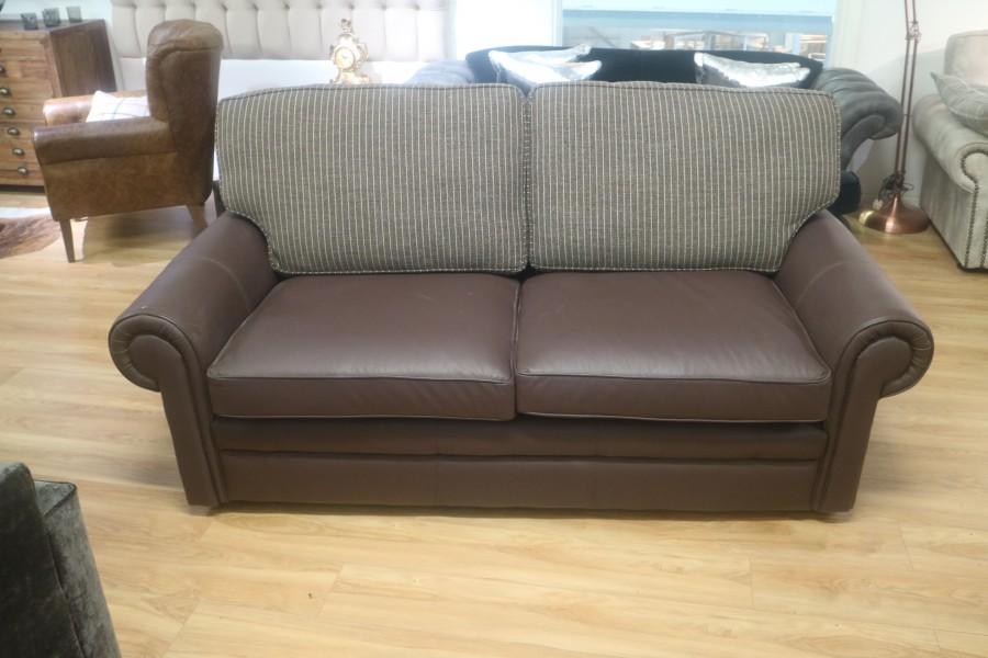 Portland Leather Sofa - 3 seater sb - Leather Fabric Mix