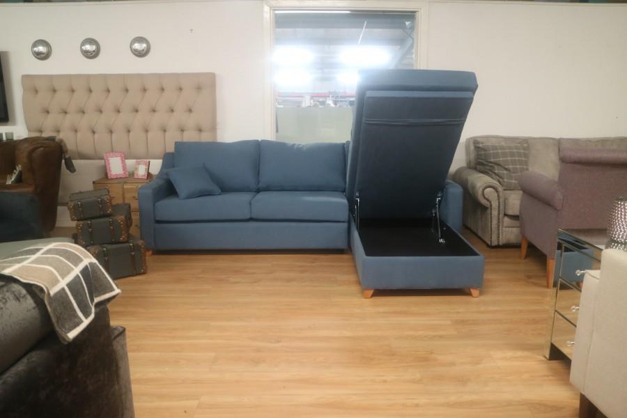 3str Sofa Bed x RHF Storage Chaise - Navy