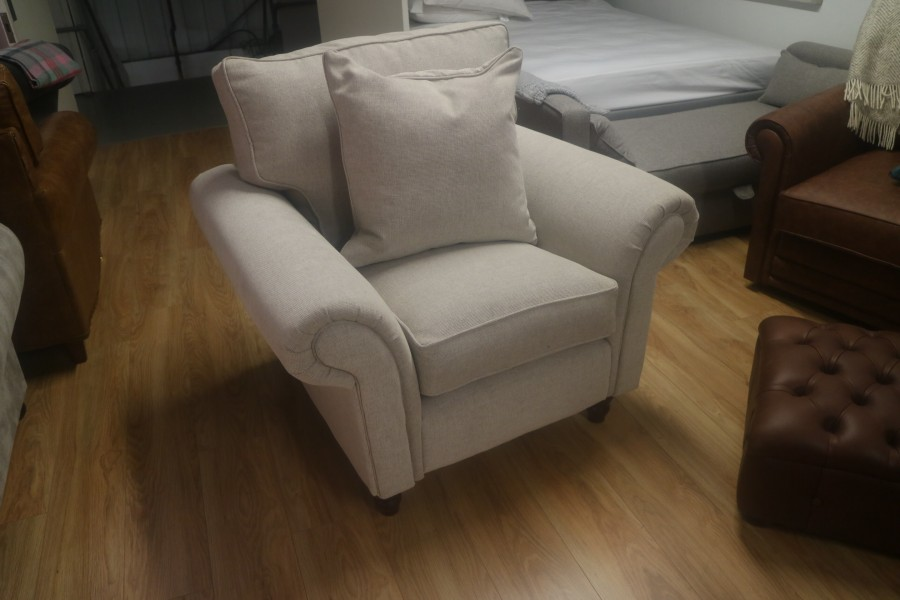 Cromwell Fabric Chair On Legs - Union