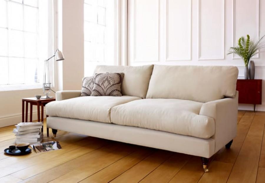 Wilmslow Linen Sofa - 2 Seater - Grey Designers Guild Velvet