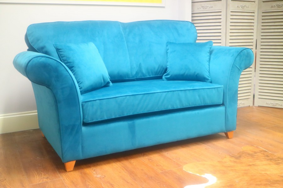Curved 2 Seater Sofa Bed - Mallard