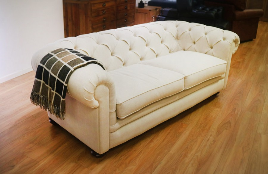 Ascot Fabric Chesterfield Sofa - 3 seater - Mistura 101
