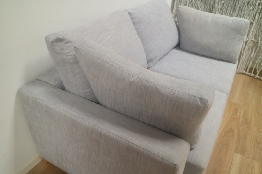 2.5 Seater Fabric Sofa - 2.5 Seater - Porto French Grey