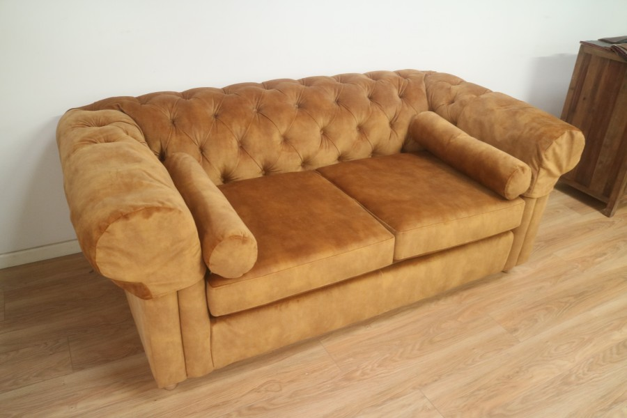 3 Seater Sofa Bed - 3 Seater - Velvet - Gold