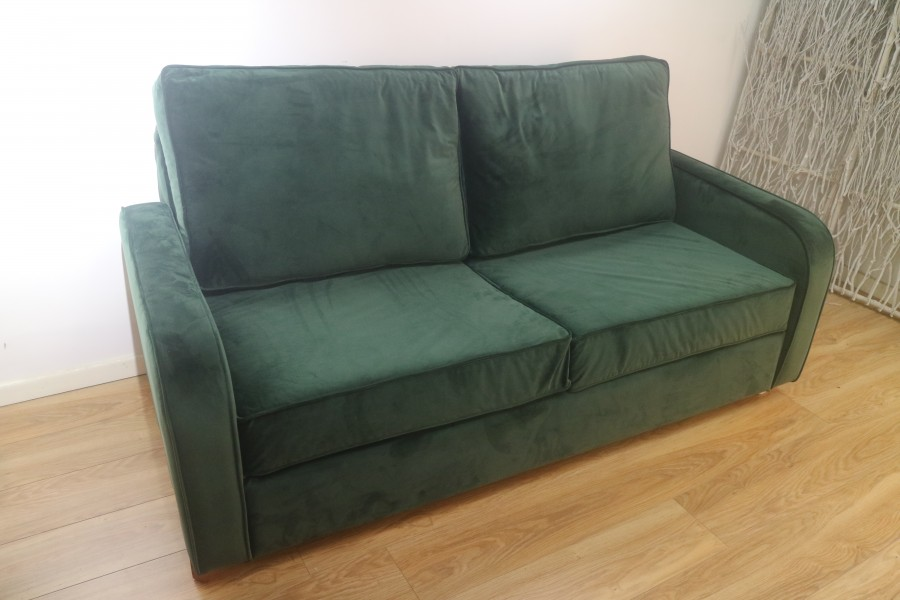 3 Seater Sofa Bed - Green Velvet