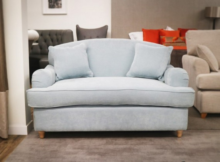 Fabric Love Seat Sofa Bed - Lovely Aqua