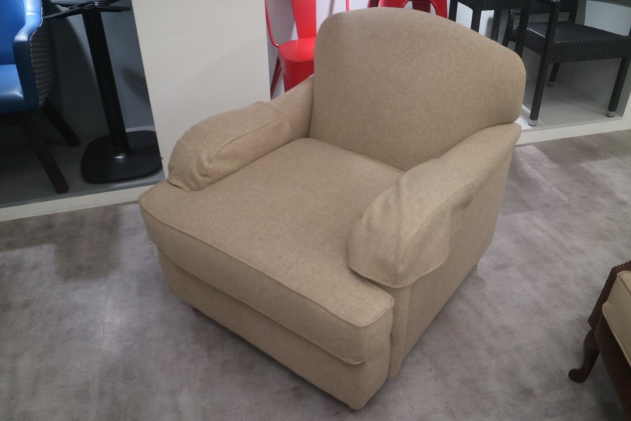 Fabric 3 Seater sofabed + Chair- Abraham & Moon Deepdale Natural
