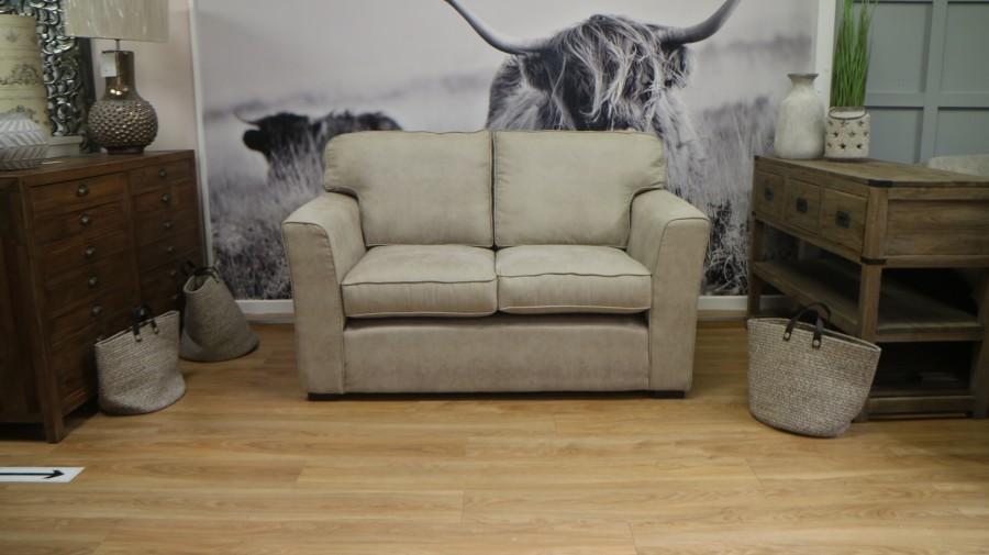 Torino Comfy Fabric Sofa - 2 Seater - Marble