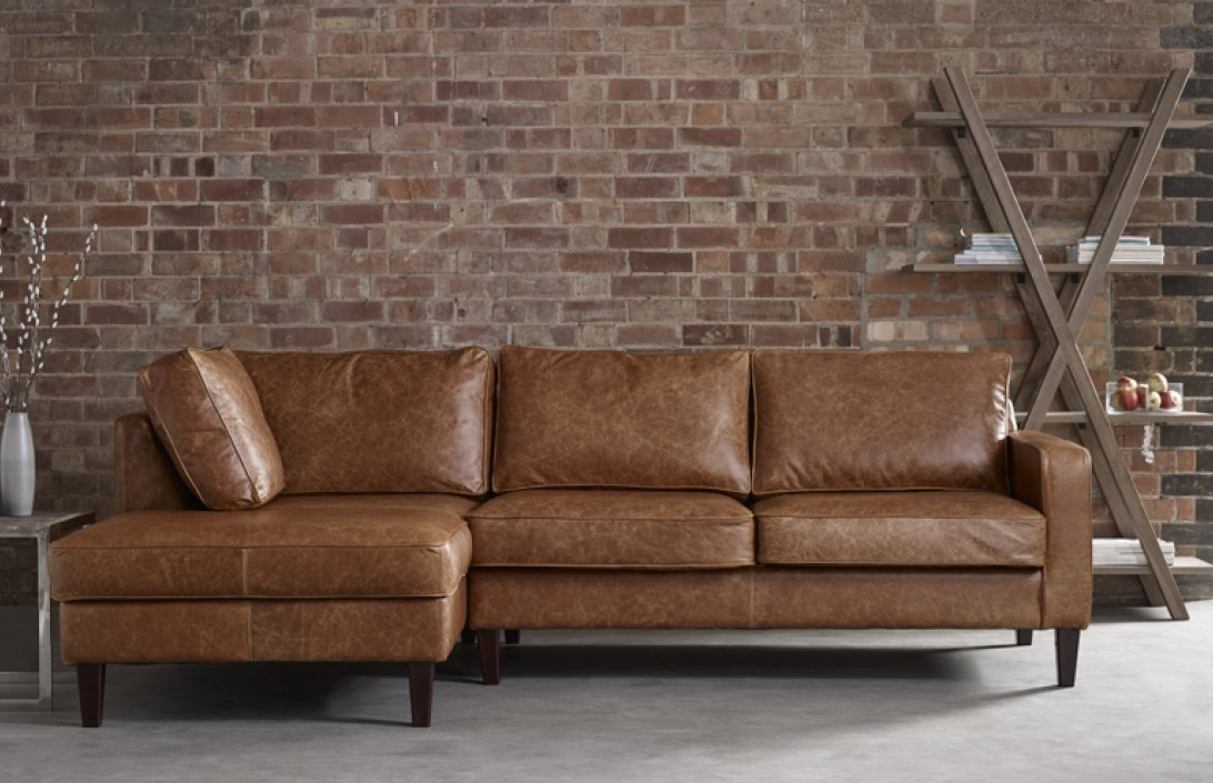 4 x chaise sofa drake leather chaise sofa the english for Chaise leather sofa