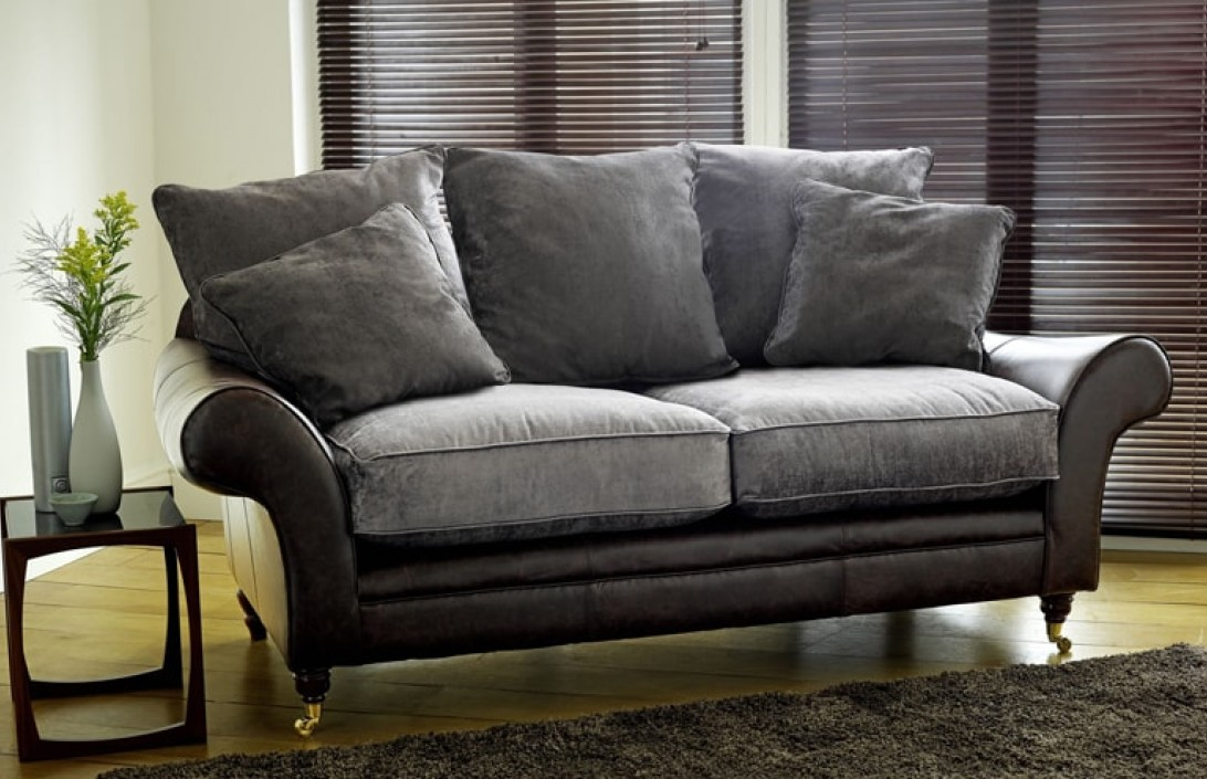 Atlanta Leather Amp Fabric Sofa Leather Sofas