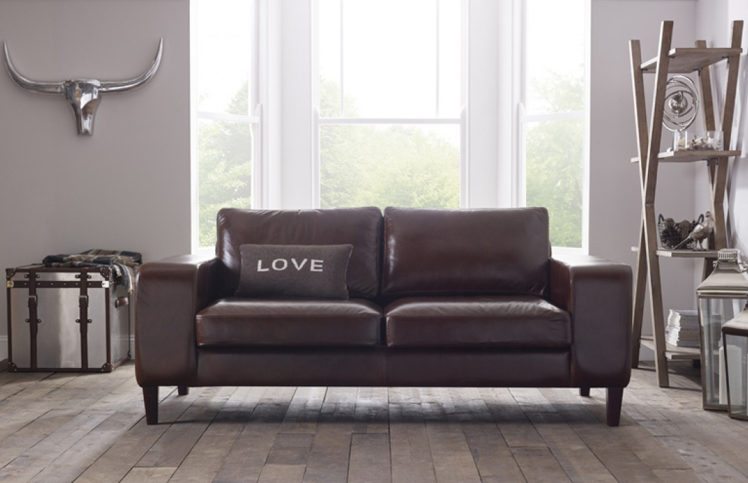 Wellington Contemporary Leather Sofa Leather Sofas