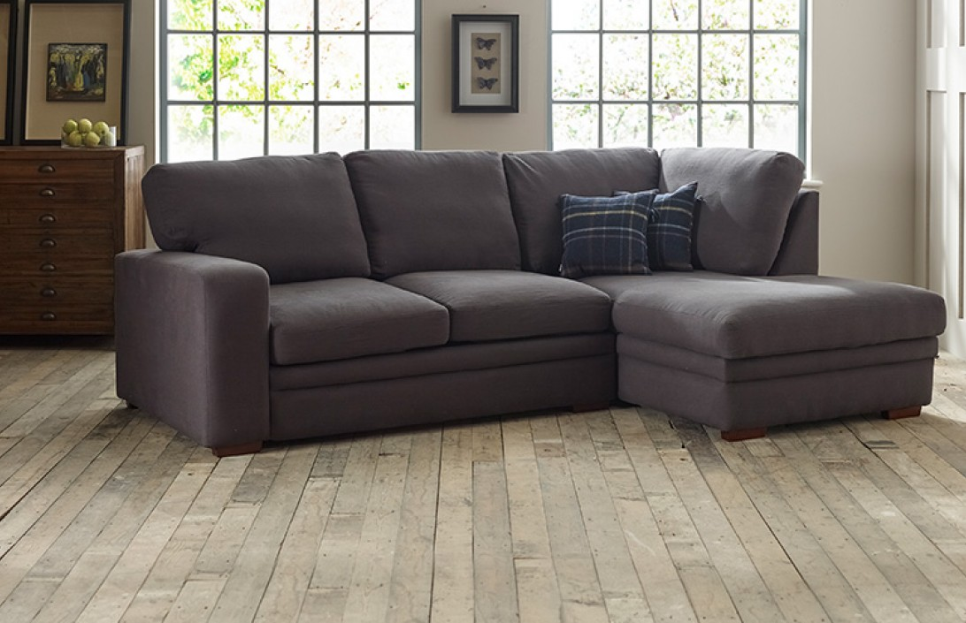 Abbey Fabric Chaise Sofa Bed Right Hand Facing Corner Sofas