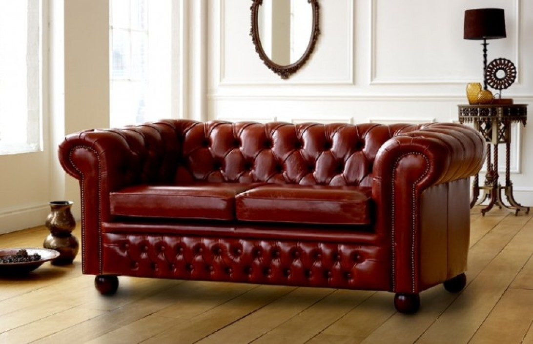 Darlington Red Chesterfield Sofa Leather Chesterfield Sofas