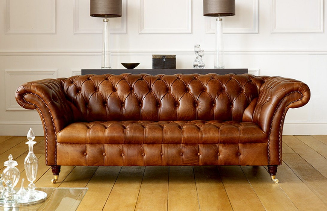 barrington vintage leather sofa leather chesterfield sofas. Black Bedroom Furniture Sets. Home Design Ideas