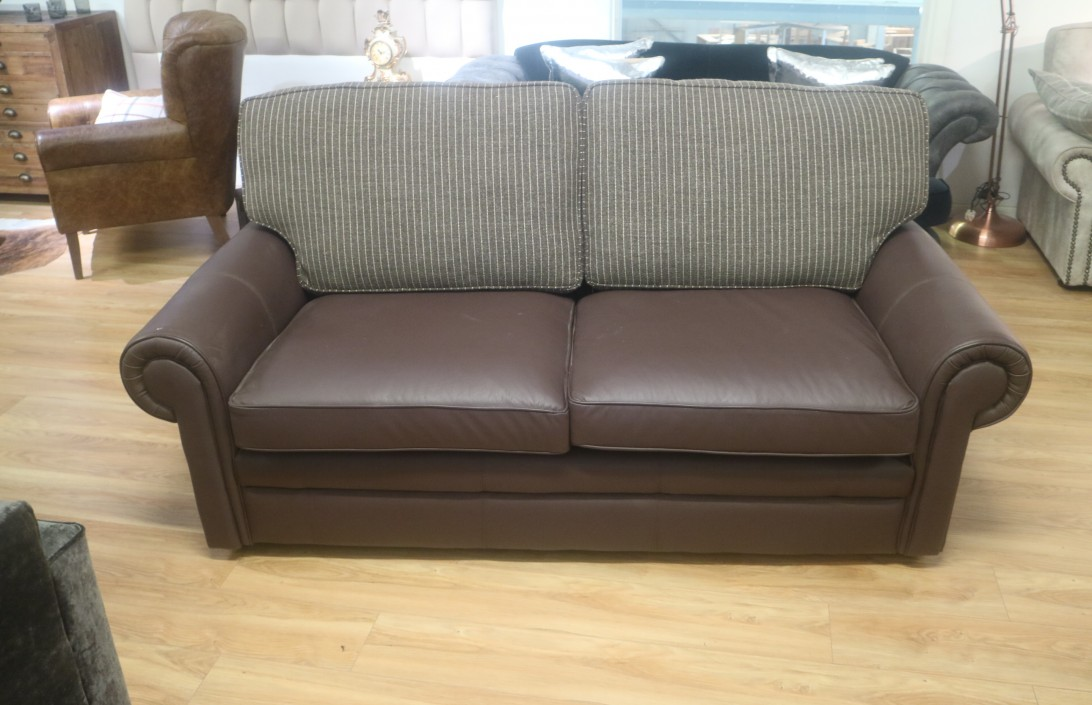 The English Sofa Company - Portland Leather Sofa - 3 seater sofa bed ...